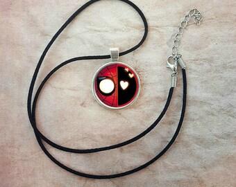 Spidey-pool Necklace Spirder-man Deadpool