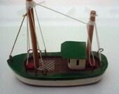 Three Inch Wooden Fishing Boat Model