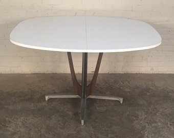 Chromecraft Mid-Century Modern Kitchen Dining Table W/1-Extension ~ Mad Men / Eames Era Decor *SHIPPING NOT INCLUDED*
