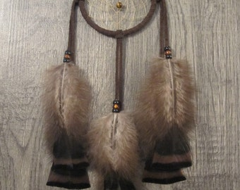 Dream Catcher Chocolate Brown Suede with Turkey Flats