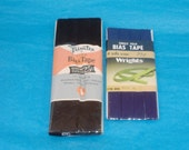 Vintage Cotton-Polyester Single Fold Bias Tape  - 2 Packages - Navy Blue, Black - 11 Yards Long & 3 Yards Long - New in Package - Destash