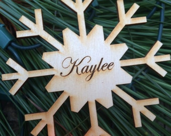Snowflake Ornament, Christmas Ornament, First Chritsmas, Personalized Ornament