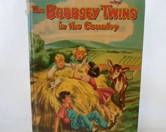 ON SALE Book, Children's, The Bobbsey Twins, In The Country, Whitman Publishing Co. 1955, Second Edition, Hardcover, No 1530, Collectibles,