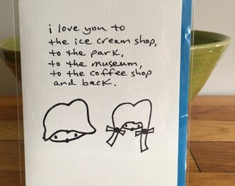 i love you to the... greeting card