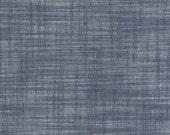 Kaufman Indigo Chambray -  Union Collection - lightweight denim cotton slub fabric
