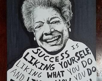 Maya Angelou (Original Drawing)