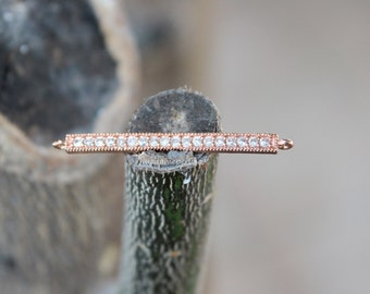 micro pave bar connector 18k rose gold plated cubic zirconia geometry charm rhinestones link jewellery supplies