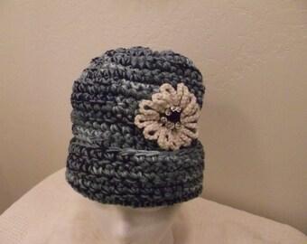 Crochet Hat in Blue
