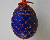 Handmade Copper Wire Wrapped Easter Eggs - Midnight