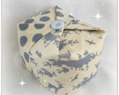 Doorstop Cube - Woodland/Forest Friends in Blue & Blue Sewn Spot