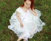 Fairy wedding dress White pixie dress Alternative bridal dress Nuno felt dress Bohemian wedding dress White bridal dress Silk wool dress