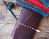 Handmade Leather Journal, rare leather and Free Engraving.