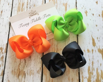 Hocus Pocus Boutique Hairbow Collection - Boutique Hairbow - Set of 3 Boutique Hairbows