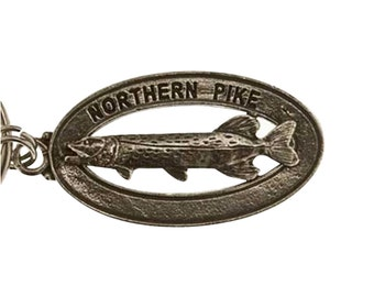 Pewter ~ Northern Pike Keychain ~ FK064