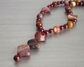 Mookaite Necklace, Mookaite Gemstone Jewellery, Chunky Necklace, Earth Tones, Semi Precious Stone