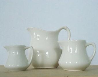 Vintage Ceramic Creamer Trio