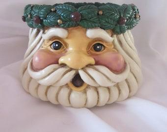 Santa Claus (pillar holder, candle...)