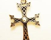 Vintage 925 Sterling Silver Apostolic  Christian Cross Pendant Echmiadzin Armenia Armenian 5