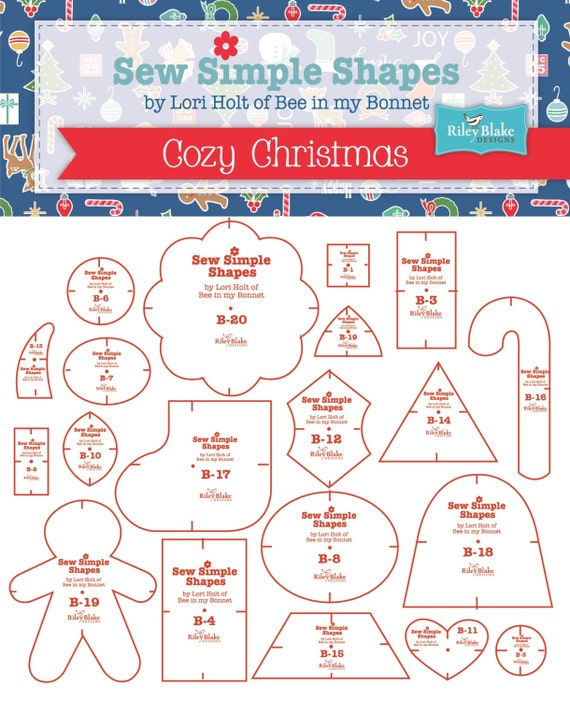 COZY CHRISTMAS - Sew Simple Shapes