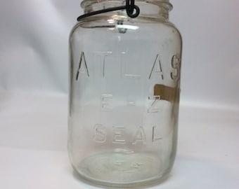 Vintage Atlas Jar