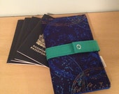Family Size Passport Wallet, Passport Cover - 4+ Passports - Constellations - Stars - Blue and Green