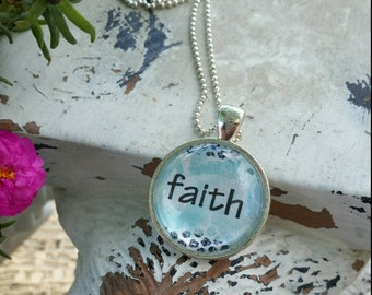 Faith, Hope, Necklace, Jewelry,  He is my anchor, Christian Jewelry, charm, gift, Christmas Gift, First Communion, First Confession, ladies