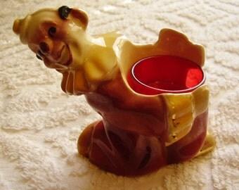 Vintage Porcelain Clown Candle Holder