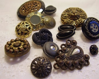 Antique Button Collection Destash/sewing/craft supply