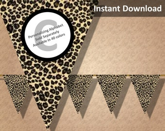 Leopard Print Bunting Pennant Banner Jungle Safari Party Decorations Animal Print Instant Download  sc 1 st  My Web Value | Decoration ideas blog. & leopard print decorations | My Web Value