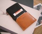 """Samsung Galaxy Note 3 Case, Galaxy Note 3 Wallet, Galaxy Note 3 Pouch, """"Kangaroo"""", leather, wool felt"""