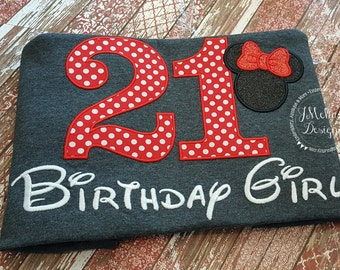 Disney-Inspired Birthday Shirt - 16th - 21st - 40th - 50th - 60th - Custom Birthday Tee 704