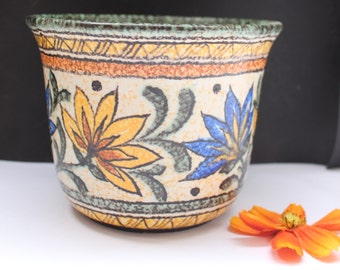 "Ruscha """"   planter/ catchpot  in Fat Lava West German pottery 50's"