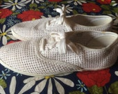 Vintage shoes | 1980s Liz Claiborne white mesh Keds-style lace up sneakers, US 8-8.5