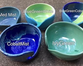 Glazed to Order Custom Porcelain Yarn Bowl