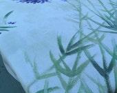 Jacquard  cotton square Lavender bouquet