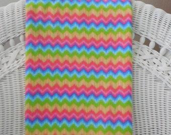 Rainbow Chevron Flannel Baby Blanket, Rainbow Baby Shower, Baby Girl Gift Idea,  Swaddling, Receiving blanket,ToddlerThrow,Chevron, Zig Zags
