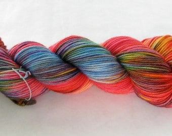 Hand Dyed Worsted Yarn - Top Dog Worsted - Modern Art