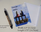 Beautiful Magnetic Postcard 'Trust your intuition'