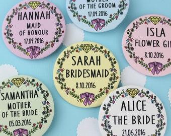 Custom Wedding or Hen Party Mirrors. Pocket Mirror. Wedding Favour. Hen Party Accessories. Bridesmaid Gifts. Wedding Gifts. Hen Do. Bride