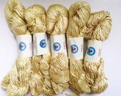 50% Off Mulberry Silk Worsted Yarn 100 g 225 Yards Himalayan Pale Gold