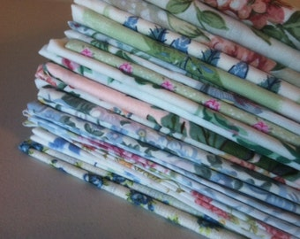 Wedding Cloth Napkins,  Shabby Chic Fabrics, 12 inch, Set of 12, by CHOW with ME