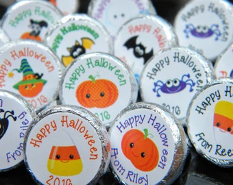 Halloween Hershey Kiss Stickers - Personalized Cute Halloween Favors - Halloween Favors - Halloween Kisses - Halloween Party Decor