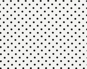 Polka Dot Fabric/Black Polka Dots on White/Timeless Treasures/CottonSewing Material/Quilting, Clothing and Crafts/Fat Quarter, By The Yard