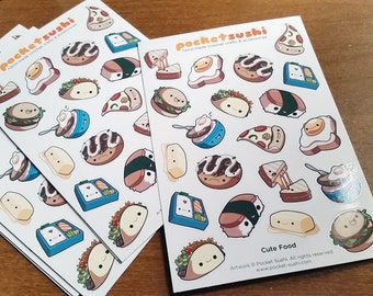 Delicious Food Sticker Sheet