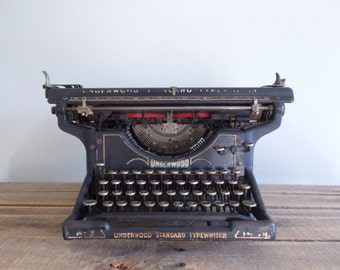Underwood Standard No. 3 Typewriter