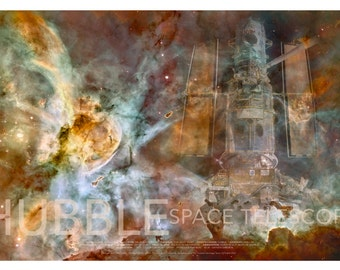 NASA Space Hubble Telescope Nebula Poster