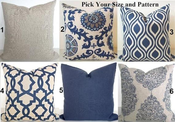 BLUE THROW PILLOWS Navy Blue Throw Pillow Covers Dark Blue