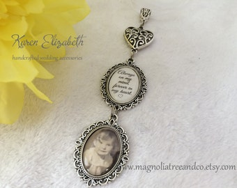 Bridal Charm, Wedding Bouquet Charm, Memorial Charm, Oval Pendant, Custom Photo, Karen Elizabeth, Wedding Charm, Always on my mind.. (BC011)
