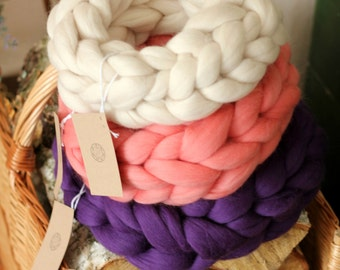 GIANT infinity scarf! Giant 100% merino wool scarf, SUPER soft, chunky, thick, oversized scarf