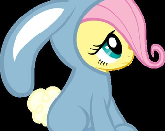 Bunny fluttershy embroidery file